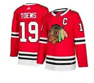 Authentic-Adidas-NHL-Chicago-Blackhawks-19-Hockey-Jersey-New-Mens-Sizes