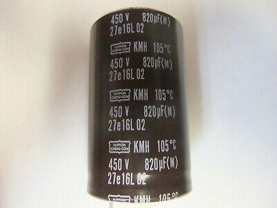 2pcs Nippon Chemi-Con NCC KZE 820mfd 100V 820UF electrolytic Capacitor
