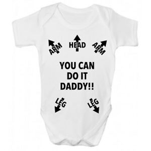 Funny Babies Clothing Babygrow Funny You Can Do It Daddy!