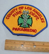 L.A. County Fire Department Obsolete Paramedic Vintage Embroidered Uniform Patch