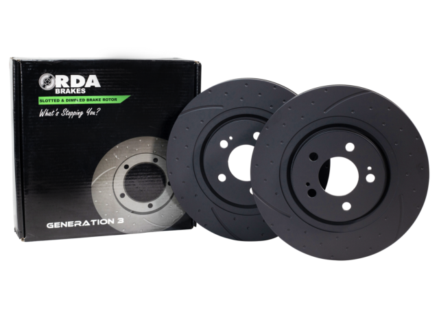 RDA Slotted And Dimpled Brake Rotor Pair Front RDA650D
