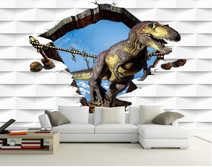 3D Sky Dinosaurs 882 Wallpaper Mural Paper Wall Print Wallpaper Murals UK Kyra