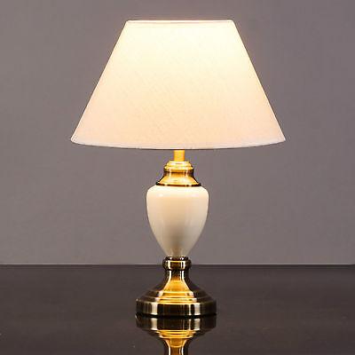 Malham Cream Ceramic And Antique Brass, Ceramic Table Lamps India