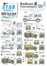 Star Decals 1/35 BALKAN PEACEKEEPERS Part 5 BRITISH LAND ROVERS