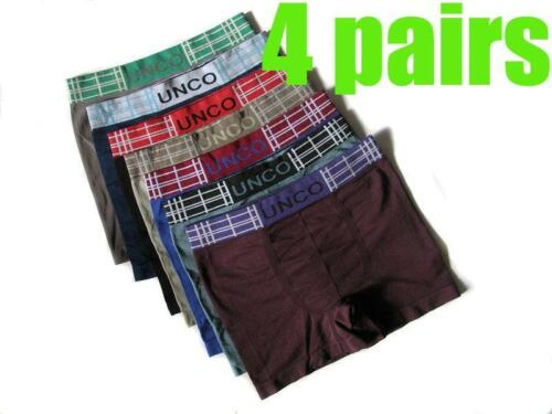 4 x  NEW Mens Seamless Boxer Style Brief  Underwear Trunks Size  M  L  XL #J28