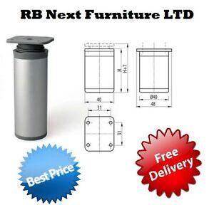 4-x-Aluminium-Legs-Round-Furniture-Sofa-Cabinet-footstool-side-60-100-150-mm