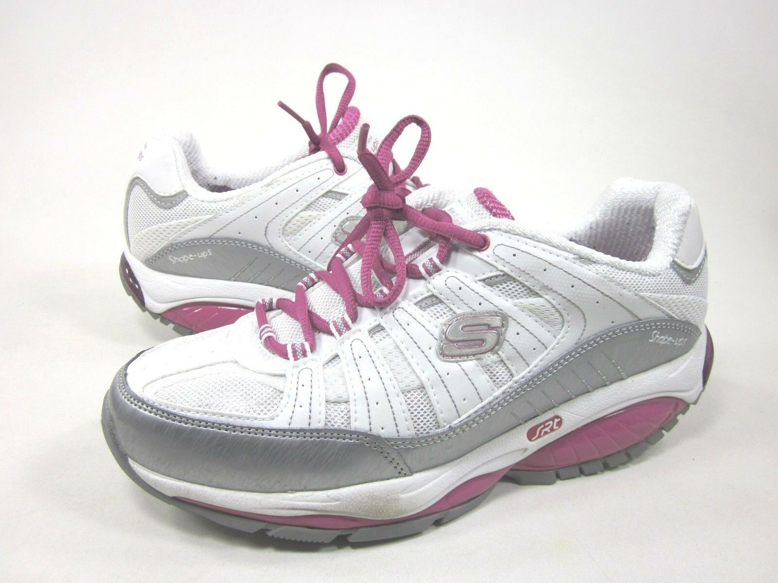 SKECHERS WOMEN'S SHAPE UPS KINETIX RESPONSE WALKING SHOES,WHITE/PINK,US SIZE 8.5 Special limited time