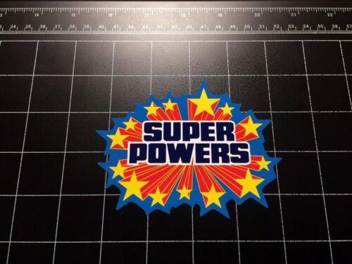 Super Powers Toy Logo Autocollant Vinyle autocollant Super Hero figurine Kenner 80 S