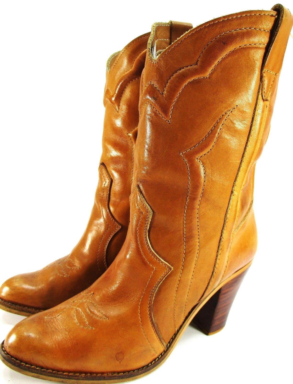Impromptus mujeres Occidental botas botas botas Talla 7 Marrón Tacones De 3 pulgadas  entrega gratis