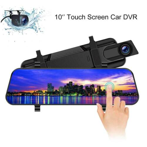 2019 10/'/' Dual Lens HD1080P Car DVR Dash Cam Touch Screen Night Vision G-Sensor