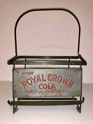 NOS Royal Crown Cola RC Soda Bottle Tray Old Antique Metal Tip Tray
