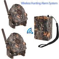 Motion Sensor Wireless Detector Alarm Alert Secure System 1x Receiver+2 Detector