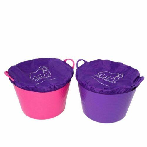 TubTrug rouge Gorilla HORSE FEED Bucket couvre-Dîner /& Breakfast-Rose Violet