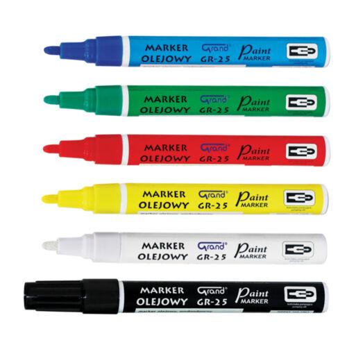 Set 6 Colors Paint Oil Based Permanent Marker Pen Glass Metal Wood Waterproof