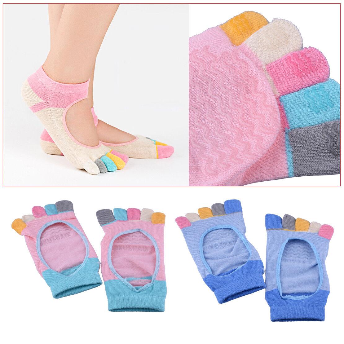 Anti-Rutsch Yoga Zehensocken Sneakersocken Fingersocken Toe Socks Pilates