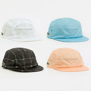 Image is loading Supreme-SS18-Lacoste-Reflective-Grid-Nylon-Camp-Cap- 879a35e353a