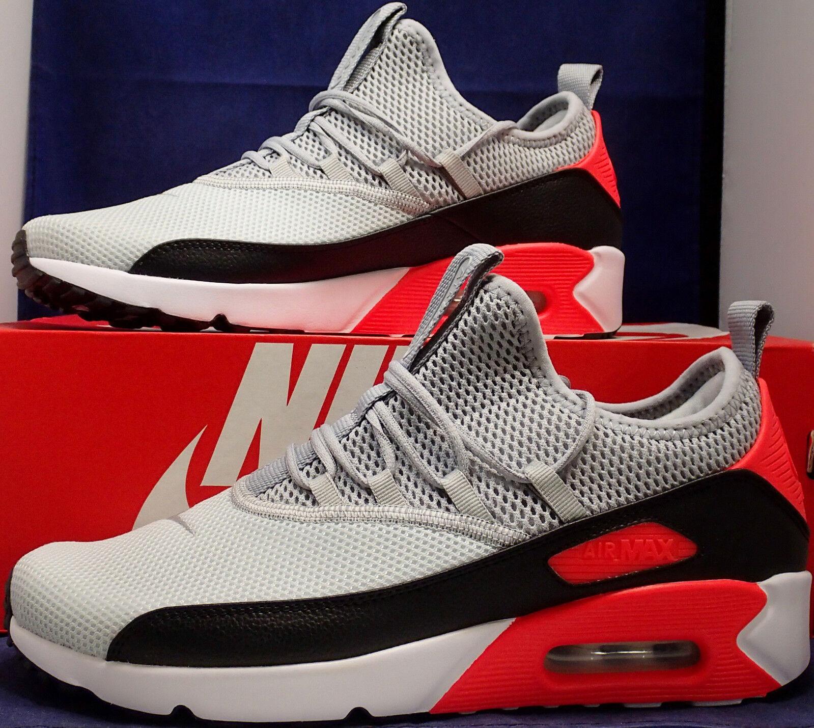 Nike Air Max 90 Ez Pure Platinum Wolf Grau Schwarz Infrarot Sz 11.5 (Ao1745-002)      Klein und fein