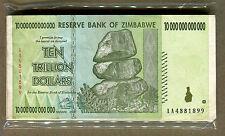 Zimbabwe 10 Trillion Dollars x 50 pcs AA 2008 P88 VF currency bills