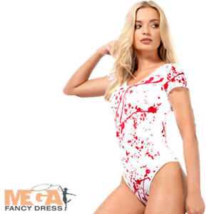 Image is loading White-Opaque-Bodysuit-Ladies-Fancy-Dress-Halloween-Gory- 4a3837e9c