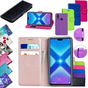 Details about For Huawei Honor 8X PU Leather Flip Stand Wallet Card Holder  Skin Cover Case