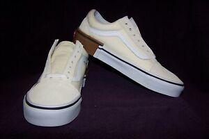 7287c096605 VANS Old Skool (Gum Block) Men s Skate Shoes Classic White NIB ...