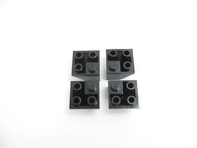 4x LEGO White Slope Inverted 45 2 x 2 Double Convex #3676
