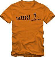 Ski Langlauf T-shirt Evolution Skifahren T-shirt Verschiedene Farben Dtg Druck