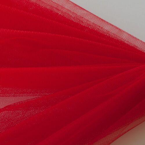 artesanía Malla Red-Tela Suave Vestido de fiesta boda 1 M x 150 Cm-En Rojo