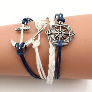 NEW-Jewelry-Fashion-Leather-Cute-Lnfinity-Charm-Bracelet-Lots-Style