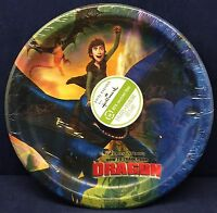 """HOW TO TRAIN YOUR DRAGON 8 3 4"""" Large Party Plates 8 Count New Toys"""