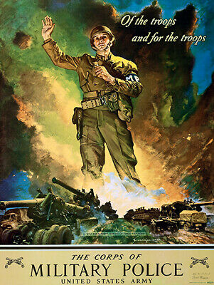 Skill /& Courage World War II Propaganda Poster Signal Corps US Army 1942