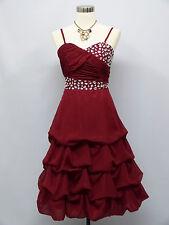 Cherlone Chiffon Red Prom Party Ball Evening Wedding Bridesmaid Formal Dress 16