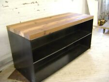 Black Amp Tan Industrial Steel And Solid Wood Top Counter Table Island