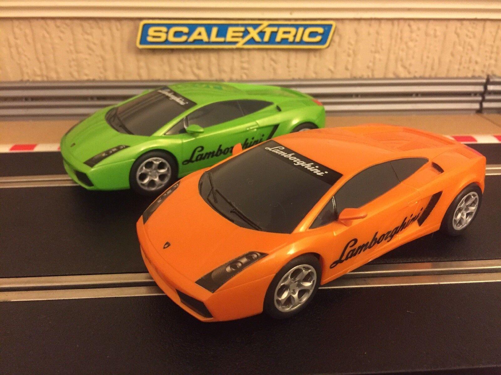 Scalextric Lamborghini Gallardo Drift   360 Degree Spin Cars Fully Serviced