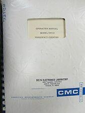 Cmc Operation Manual Model 737cu Frequency Counterampinstruction Manual Model 727b