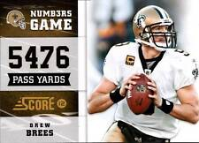 2012 Score Numbers Game Glossy #9 Drew Brees Saints