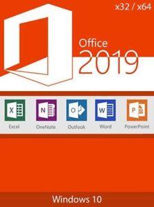 Microsoft Office 2019 Professional Plus For Pc Windows Ebay