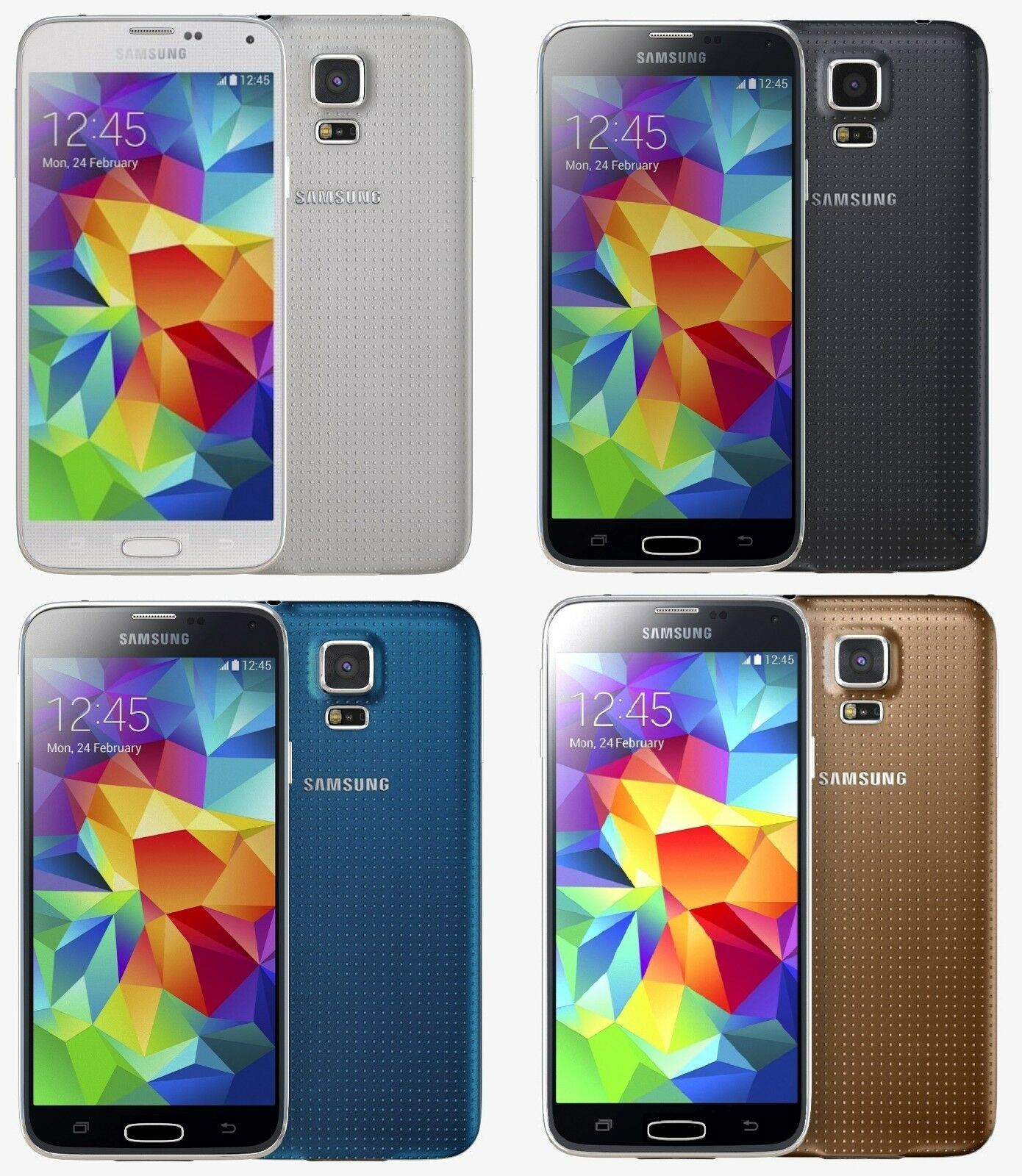 Samsung Galaxy S5 SM-G900 16GB AT&T T-Mobile + GSM Unlocked Cellphone