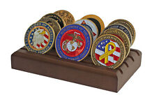 Challenge Coin Display Stand Rack, Solid Wood, Walnut Finish CN-6