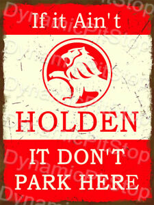 Vintage Retro Cave 30x40cm EH Holden Rustic Tin Sign or Decal Garage Bar