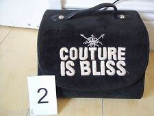JUICY COUTURE TRAVEL BAG COSMETICS JEWELRY HAIR 4 COMPARTMENTS BLACK AUTHENTIC!!