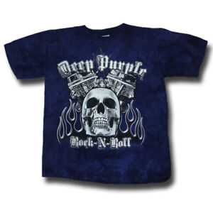 Deep Purple T-shirt Rock N Roll Tie Dye Official Merchandise Approvisionnement Suffisant
