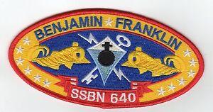 USS-Benjamin-Franklin-SSBN-640-Crest-BC-Patch-Cat-No-B816