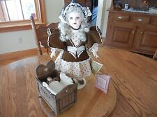"Franklin Mint Limited Edition Coca Cola Heirloom 20"" Doll SARAH Porcelain/Cloth"