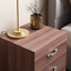 thumbnail 4 - Riano Bedside Cabinet Chest Of Drawers Walnut 3 Drawer Metal Handles Runners