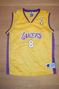 on sale a88c3 a417e Details about Rare! VTG CHAMPION LA LAKERS KOBE BRYANT JERSEY TANK TOP kids  boys girls L 14-16