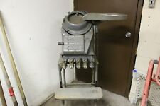 Vintage 1950s Standard Johnson Coin Counter Machine With Cart Amp Feeder Tray