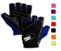 Women Ladies Workout Gym Weightlifting Crossfit Gloves, Blue, Medium