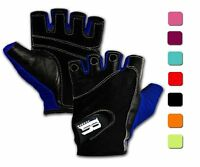 Women Ladies Workout Gym Weightlifting Crossfit Gloves, Blue, Medium