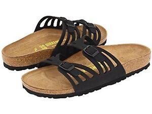 be10810497bf Image is loading Authentic-Women-039-s-Birkenstock-Black-Granada-Adjustable-